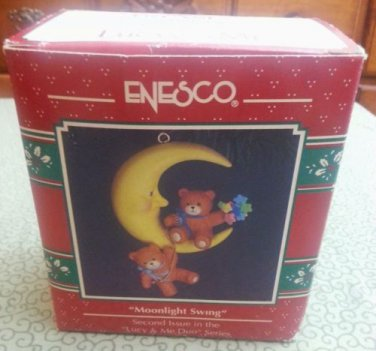 "1992 Enesco Treasury ""Moonlight Swing"" Christmas Ornament"