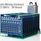 10,700MH/s 10.7GH/s ASIC Bitcoin Miner 24 Hour Contract