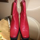 RED ROUGE ANKLE BOOTS