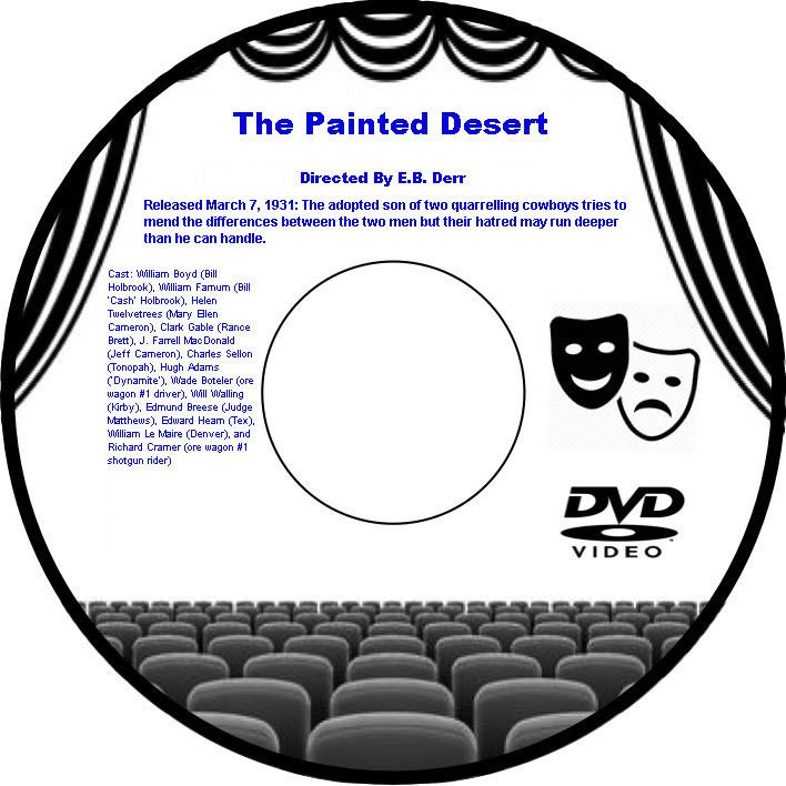 The Painted Desert 1931 DVD Film Western William Boyd Helen Twelvetrees Farnum