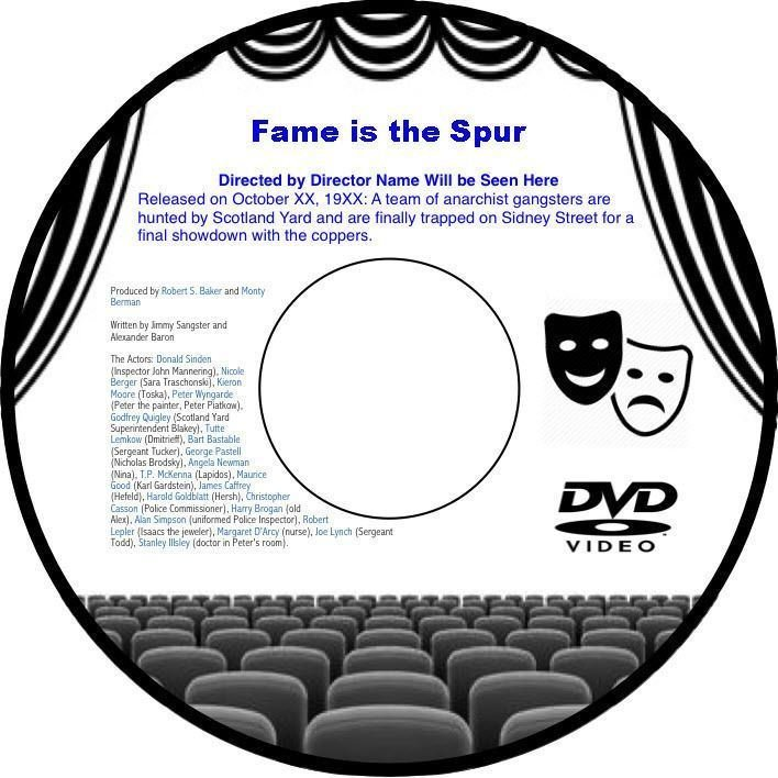 Fame is the Spur 1947 DVD Film British Political Drama Michael Redgrave Rosamund