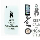 iTrust White Keep Calm and Carry On Gangnam style Hard Case Cover For iPhone 5 5G 5S + Free Gift
