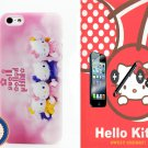 iTrust Hello Kitty Happy Family Design Hard Case Cover For iPhone 5 5G 5S + Free Gift (C007)