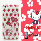 iTrust Hello Kitty Pink Strawberry Design Hard Case Cover For iPhone 5 5G 5S + Free Gift (C008)