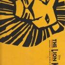 Lion King Award Best Musical Program Guide 2006 Glossy Illustrated Tour Souvenir