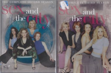 Sex and the City: THE COMPLETE SECOND & THIRD SEASON DVD LOT