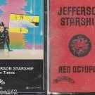 JEFFERSON STARSHIP CASSETTE LOT (2) MODERN TIMES & RED OCTOPUS