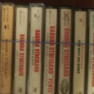 BARBARA STREISAND CASSETTE TAPE LOT (8)