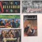 SHENANDOAH CASSETTE LOT (5) SUPER HIT- THE ROAD NOT TAKEN-UNDER THE KUDZU & MORE