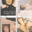 SHEILA WALSH CASSETTE LOT (4) SAY SO-SIMPLE TRUTH-HYMNS & VOICES-FOR A TIME LIKE