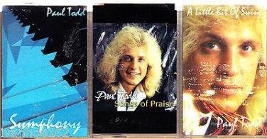 PAUL TODD SONGS OF PRAISE, A LITTLE BIT OF SWING, SYMPHONY CASSETTES (3)