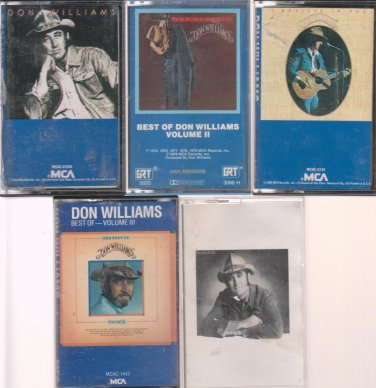 Don Williams Cassette Lot Country