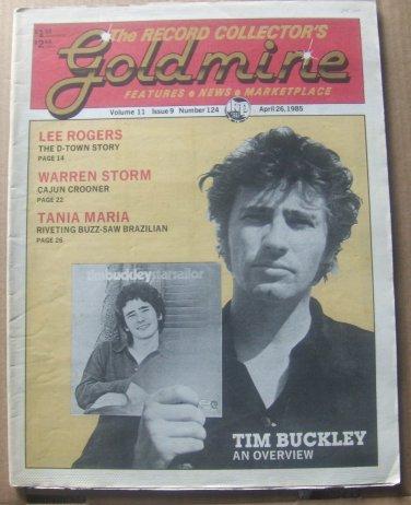 GOLDMINE COLLECTORS MAGAZINE #124 -April 1985-TIM BUCKLEY,LEE ROGERS,WARREN STORM