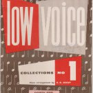 Rodeheaver Low Voice Collections No. 1, Piano Arrangement By B. D. Ackley