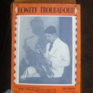 Lonely Troubadour, Rudy Vallee photo 1929 Vintage Sheet Music