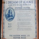 1936 I DREAM OF JEANIE (With the Light Brown Hair) by STEPHEN FOSTER