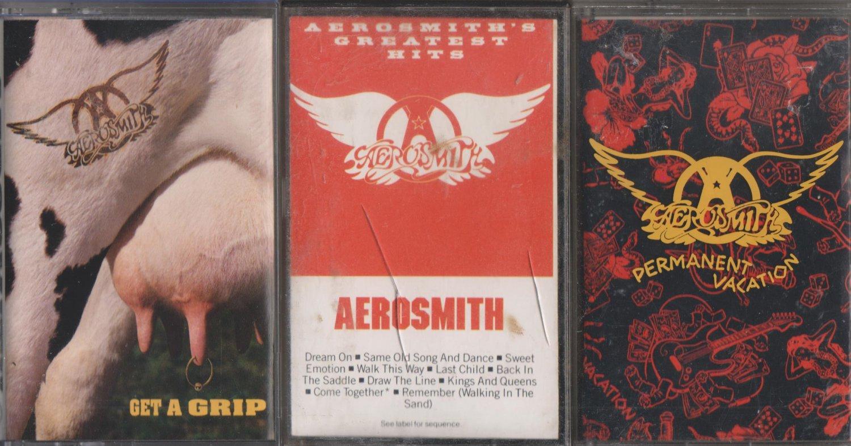 AEROSMITH CASSETTE LOT (2.99)