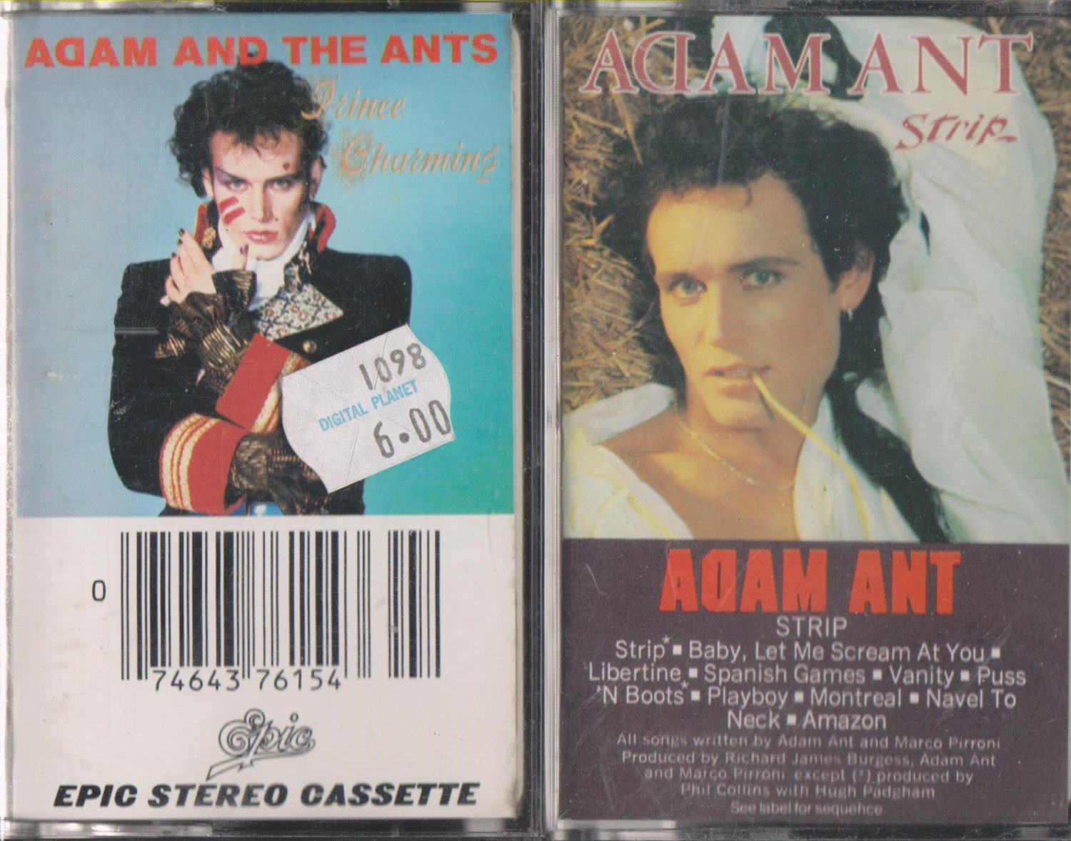 Adam Ant Casssette Lot