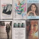 JUDY COLLINS CASSETTE LOT (6) SINGS DYLAN, FIFTH ALBUM, JUDITH & MORE