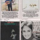 JOAN BAEZ MUSIC CASSETTE LOT (4)