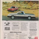 1982 Dodge Rampage Truck - Classic Vintage Advertisement