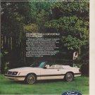 Classic Vintage Advertisement 1983 Ford Mustang