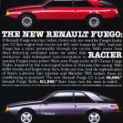 1984 Renault Fuego Turbo Classic Advertisement Ad