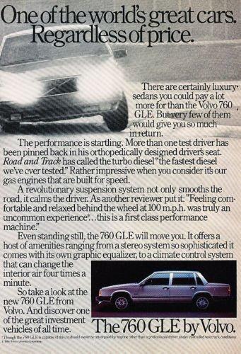 1984 Volvo 760 GLE - price - Classic Vintage Advertisement Ad