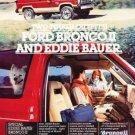 1985 Ford Bronco II - Eddie Bauer - Classic Vintage Advertisement Ad