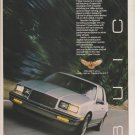 1986 Buick Somerset T Type Coupe Car Print Ad