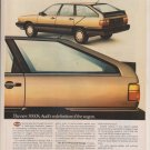 1984 Audi 5000S Wagon Classic Vintage Advertisement Ad