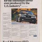 Vintage Print Ad 1983 Ford Mustang SVO