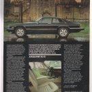 1985 JAGUAR XJ-S Luxury Car & Mansion VINTAGE AD
