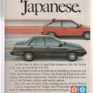 1986 Dodge Mitsubishi Colt Vintage Advertisement