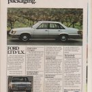 1984 Ford LTD/LX - Packaging - Classic Vintage Advertisement