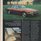 1983 JAGUAR XJ-S V-12, Maroon, 1983 Magazine Print Ad