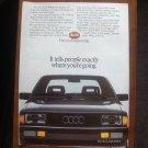 1985 Audi 4000s 4000 Classic Advertisement Print Ad