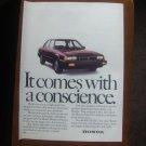 Vintage Honda Advertisement Original