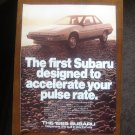 1985 Subaru XT Magazine Advertisement