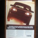 1985 SAAB 900 Turbo - 16-valve - Classic Vintage Car Advertisement Ad
