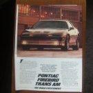 1985 PONTIAC FIREBIRD advertisement, Pontiac Firebird Trans Am