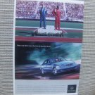 mercedes benz once you drive one, there's no turning back  print magazine advertisement