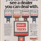 GMC TRUCKS -- Vintage Magazine Print Ad