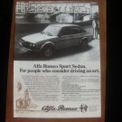 1978 Alfa Romeo Sport Sedan Alfetta - Classic Vintage Advertisement Ad