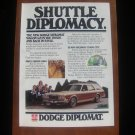 1978 Dodge Diplomat Wagon Shuttle Diplomacy Vintage Ad
