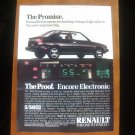 1986 Renault Encore - Promise - Classic Vintage Advertisement