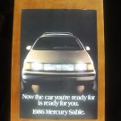 1986 Mercury Sable Classic Vintage Advertisement Car