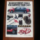 1986 Volvo 760 740 Sedan - Accident - Classic Vintage Advertisement Ad