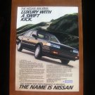 1988 NISSAN MAXIMA SE ORIGINAL VINTAGE AD