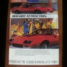 1986 Chevrolet Camaro Z28 red - Classic Vintage Advertisement Ad